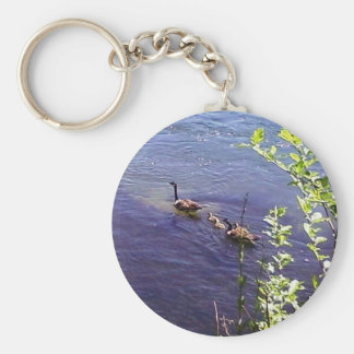 Canadian Geese Family Key Ring
