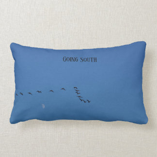 Canadian geese in flight lumbar cushion
