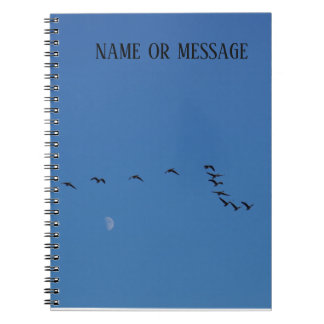 Canadian geese in flight notebook