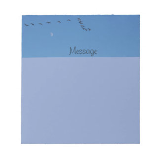 Canadian geese in flight notepad