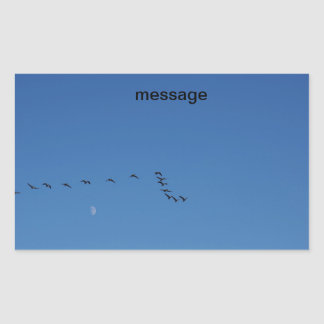 Canadian geese in flight rectangular sticker