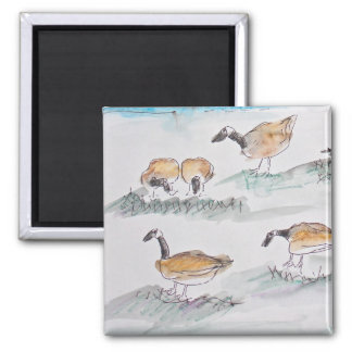 Canadian Geese Fridge Magnets