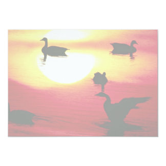 Canadian geese sunset invitations