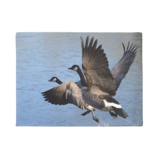 Canadian Geese Taking Flight Doormat