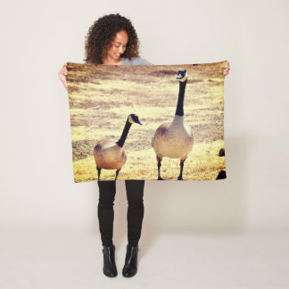 Canadian Geese @ Watson Lake Fleece Blanket