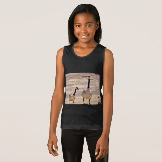 Canadian Geese @ Watson Lake Girl's Tank Top