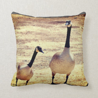 Canadian Geese @ Watson Lake Throw Pillow
