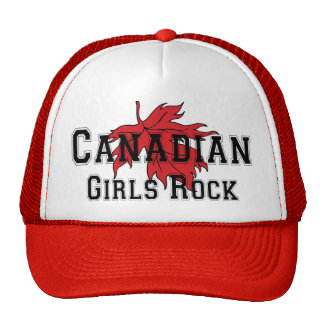 Canadian Girls Rock T Shirt Trucker Hat
