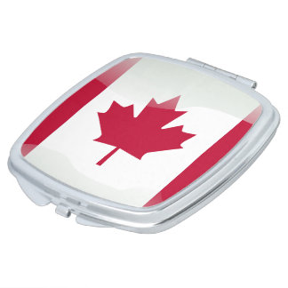 Canadian glossy flag mirrors for makeup