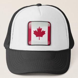 Canadian glossy flag trucker hat