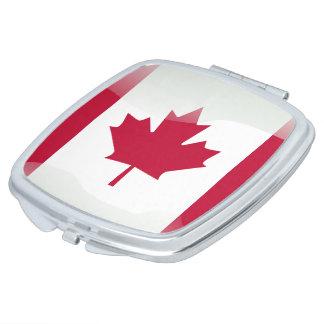 Canadian glossy flag vanity mirror