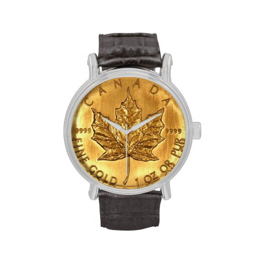 Canadian Gold Coin Wristwatch