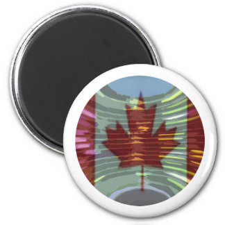 Canadian Gold MapleLeaf - Success in Diversity 6 Cm Round Magnet