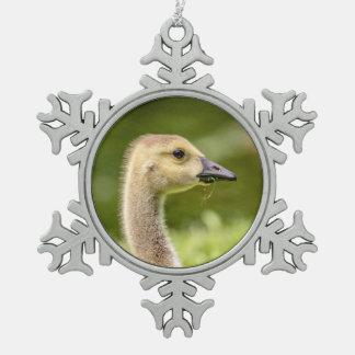 Canadian Goose (Gosling) Pewter Snowflake Decoration