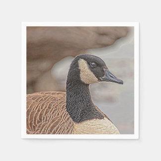 Canadian Goose Portrait Disposable Serviette