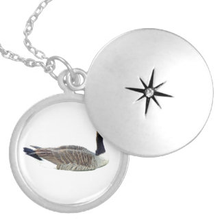 Canadian Goose Round Locket