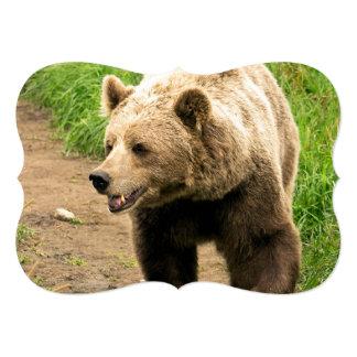 Canadian Grizzly 13 Cm X 18 Cm Invitation Card