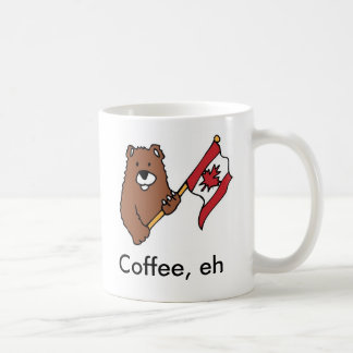 Canadian grizzly bear maple leaf flag coffee mug