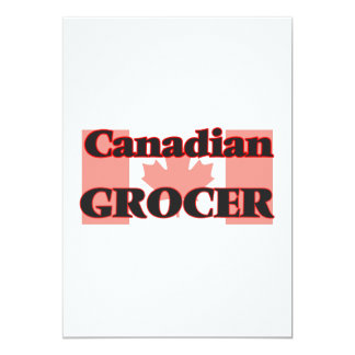 Canadian Grocer 13 Cm X 18 Cm Invitation Card