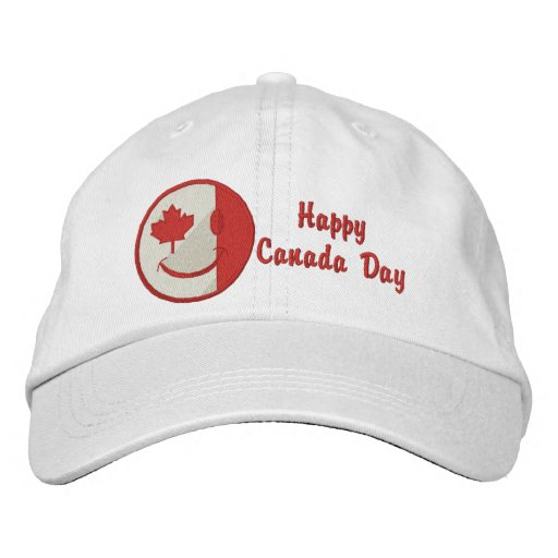 Canadian Happy Face Eh Team Embroidered Hat