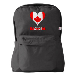 Canadian heart backpack