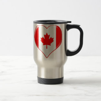 Canadian Heart Charm Mug