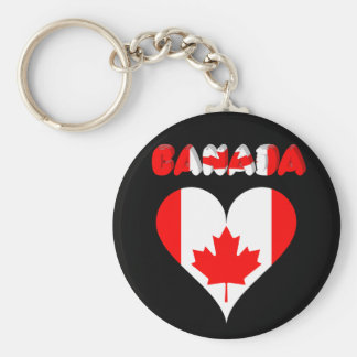 Canadian heart key ring
