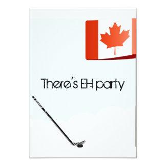 Canadian Hockey Card 13 Cm X 18 Cm Invitation Card