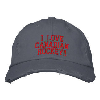 Canadian Hockey Embroidered Hat