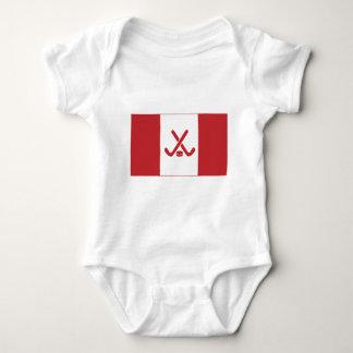 Canadian Hockey Flag Baby Bodysuit