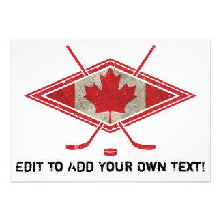 Canadian Hockey Flag Logo Announcement