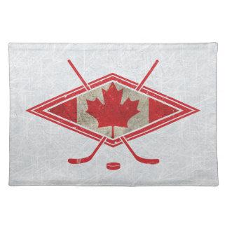 Canadian Hockey Flag Logo Placemat