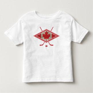 Canadian Hockey Flag Logo Toddler T-Shirt