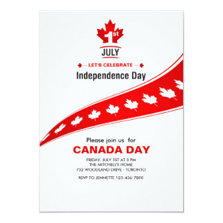 Canadian Independence Day Invitation