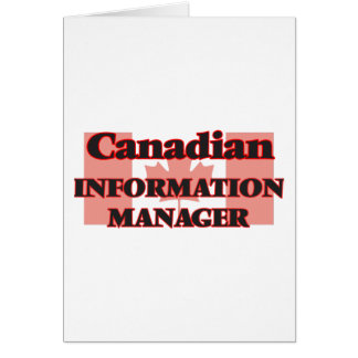 Canadian Information Manager Greeting Card