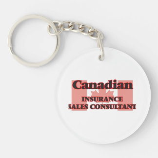 Canadian Insurance Sales Consultant Single-Sided Round Acrylic Key Ring
