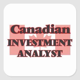 Canadian Investment Analyst Square Sticker