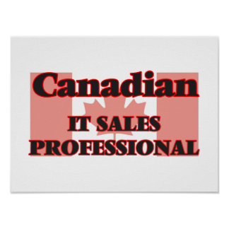 Canadian It Sales Professional Poster