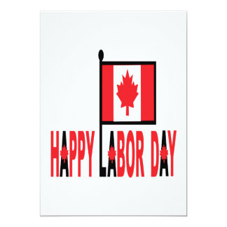 Canadian Labour Day 13 Cm X 18 Cm Invitation Card