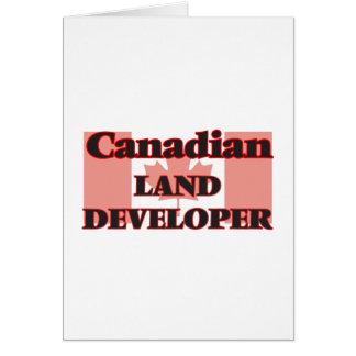 Canadian Land Developer Greeting Card