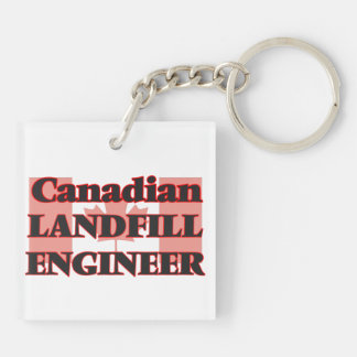 Canadian Landfill Engineer Double-Sided Square Acrylic Key Ring