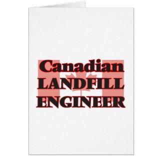 Canadian Landfill Engineer Greeting Card