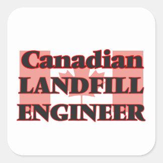 Canadian Landfill Engineer Square Sticker