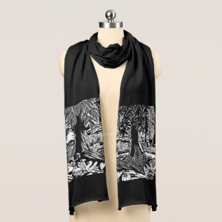 Canadian Landscape Art Gifts Old Growth Scarf