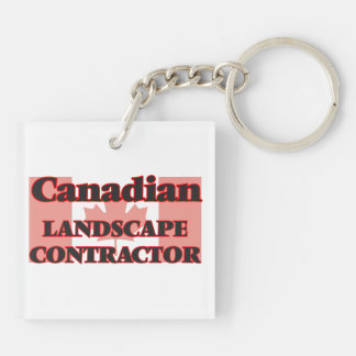 Canadian Landscape Contractor Double-Sided Square Acrylic Key Ring