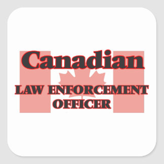 Canadian Law Enforcement Officer Square Sticker