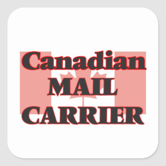 Canadian Mail Carrier Square Sticker