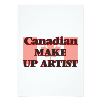 Canadian Make Up Artist 13 Cm X 18 Cm Invitation Card