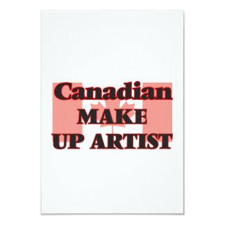 Canadian Make Up Artist 9 Cm X 13 Cm Invitation Card