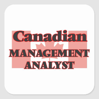 Canadian Management Analyst Square Sticker